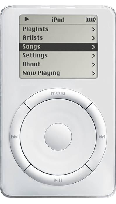 今日はAppleが初代iPodを発表した日!家のCDが全部入る!衝撃を与えた商品