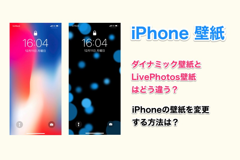 iPhoneのダイナミック壁紙とLivePhotos壁紙はどう違う?それぞれの特徴や壁紙